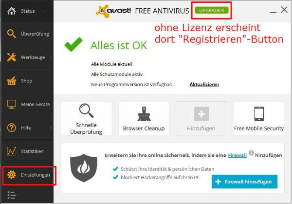 Avast Free Antivirus License Key Register