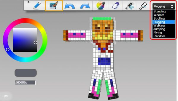 Create Minecraft Skin Position