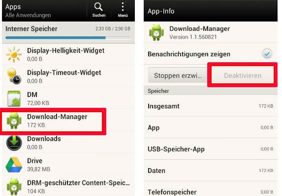 Google Play Store koppeling DL Manager