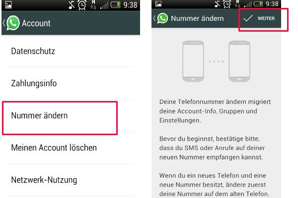 Change WhatsApp number Procedure