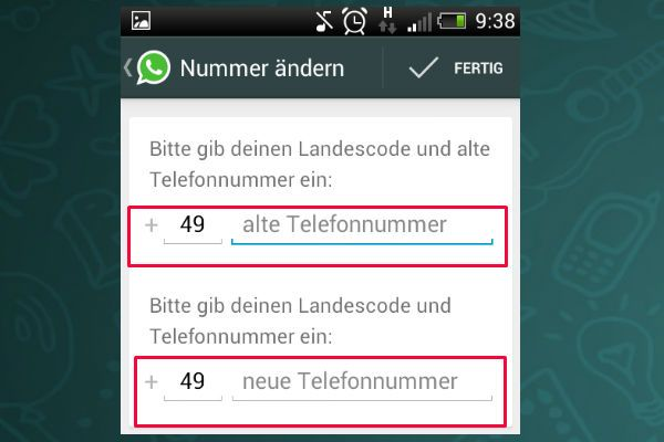 Change WhatsApp number number