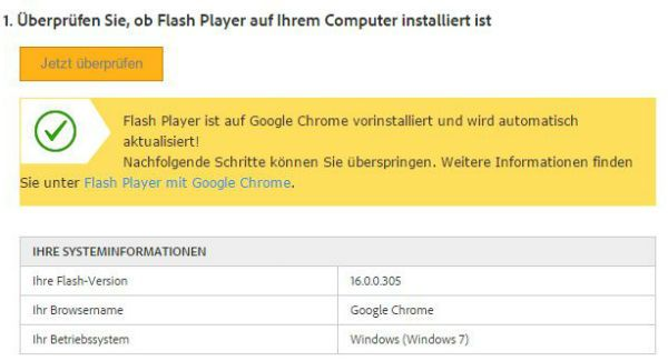 Actualización de Flash Player desigual