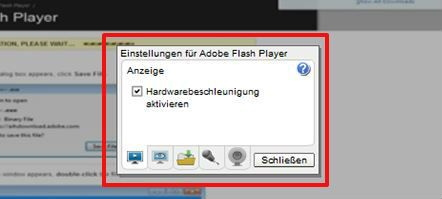 Flash Player aceleración de hardware desigual