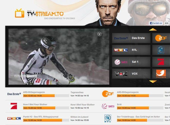TV-Stream.to Download Channel overview