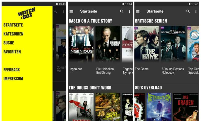 Watchbox app selection
