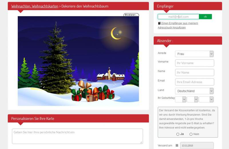 Kerstkaarten Download E-mail