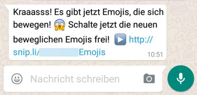 WhatsApp trap abonnement emoji animés