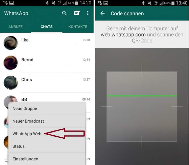 WhatsApp on Tablet Smartphone
