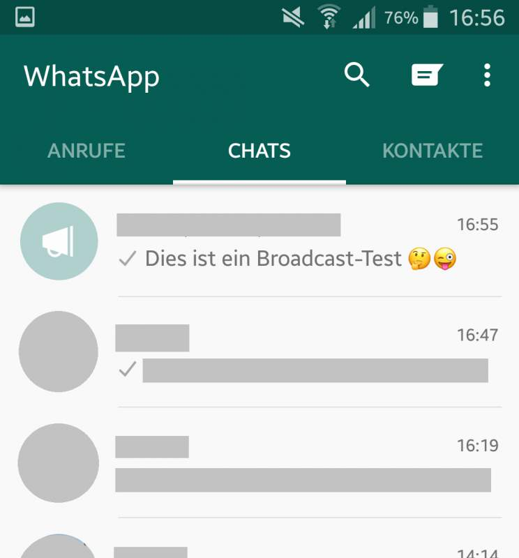 WhatsApp broadcast bullhorn