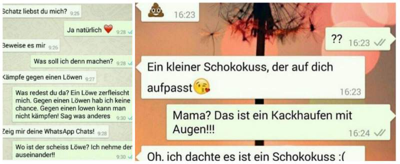 WhatsApp Fails Schokokuss