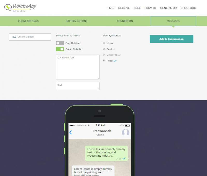 WhatsApp de chat Faux
