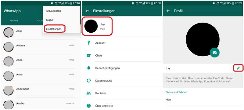 WhatsApp name change in detail