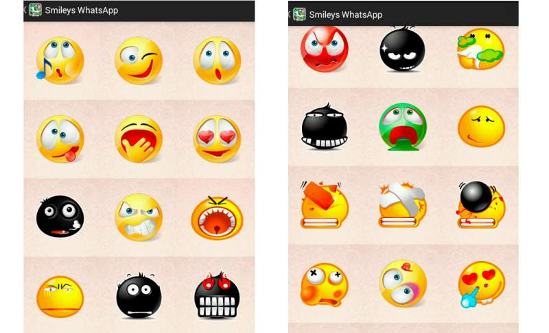 WhatsApp Smileys emoticons Android