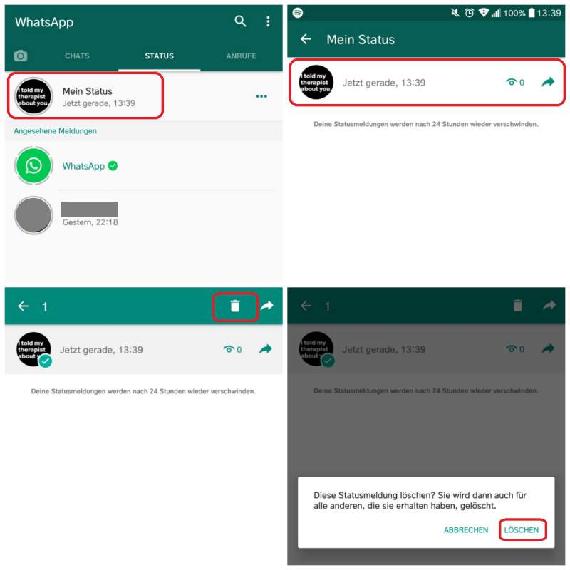Delete Whatsapp Status Find It After The Update