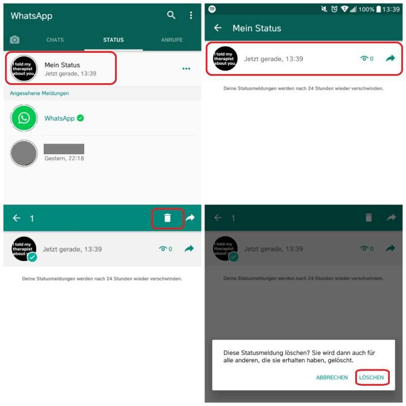 Screenshot Whatsapp Status