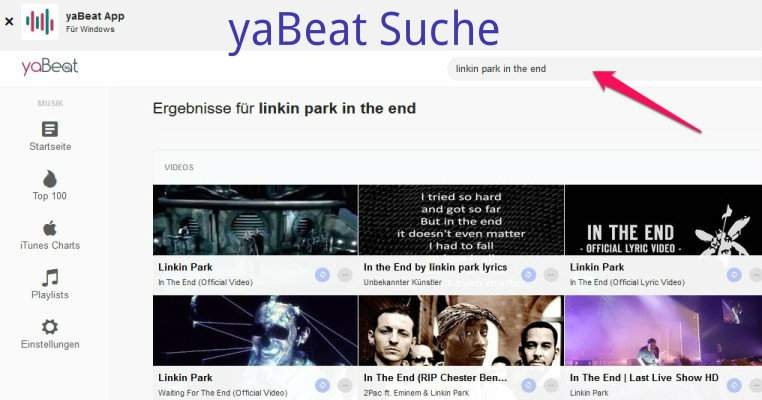 yaBeat search
