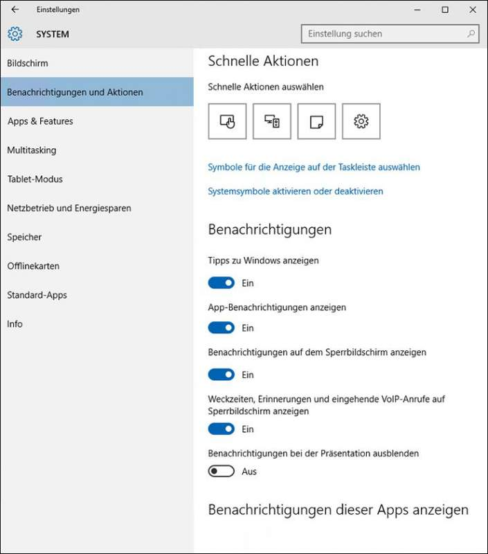 Windows 10 Info Center