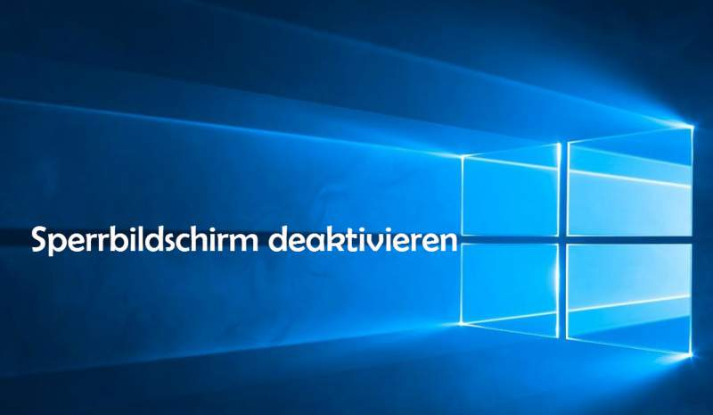 Disabilita schermata di blocco di Windows 10