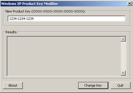 how to change product key windows xp